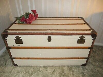 Vintage Steamer Trunk - Early 1900s