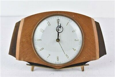 Vintage Brown Wooden Metamec Electric Mantle Clock UNTESTED Home Decoration