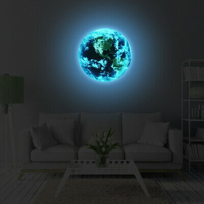 Luminous Planet Earth Wall Sticker Sticker Decal Kids Decor Glow In The Dark