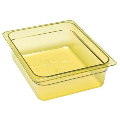 Cambro 24HP150 H-Pan Amber High Heat Half Size Food Pan (6 per case)