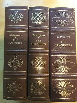 Shakespeare Complete Works Leather 3 Volume Set Easton Press Collector's Edition