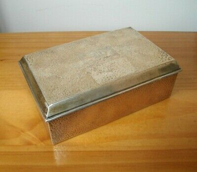 Webster Company early 20thC American Hallmarked Hammered Silver Box