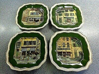 222 Fifth French Cafe Salad Lunch Luncheon Plates, Set of 4