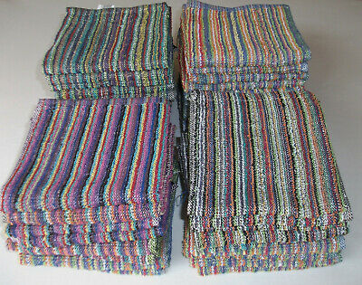 Multi Striped Face Cloths 100% Cotton ChoIce of Pack Size to Suit your Pocket