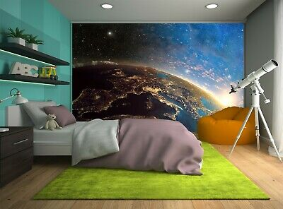 Colorful Earth Planet  Wall Mural Photo Wallpaper GIANT WALL DECOR Free Glue