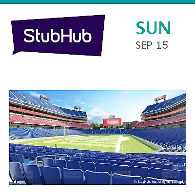 2) TENNESSEE TITANS vs. Indianapolis Colts NFL Game Tickets Sept. 15