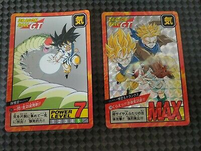 Carte Dragon Ball Z GT Double Prism Card DBZ Super Battle Power Level japan