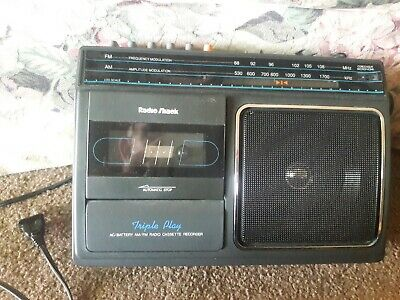 Radio Shack Portable Ac/Dc Am Fm Radio Cassette Player Ctr-83 Model No. 14-758!!