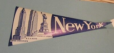 1960s New York Empire State Building RCA Statue of Liberty Unused Paper Pennants