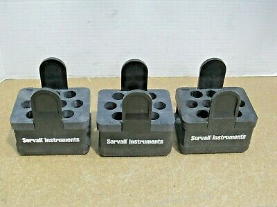 Lot of 3 Sorvall Instruments 00884 750g 10 Tube Slot Swing Rotor Bucket Adapters