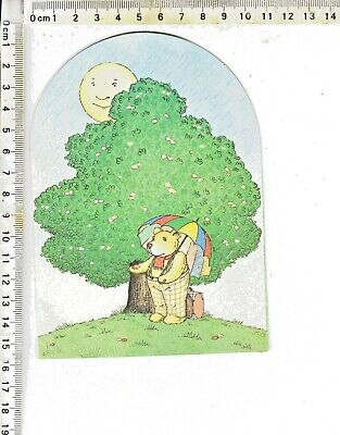 WINNIE THE POOH - Untitled GREETING CARD - POP-UP Inside 1984 United Notions UK
