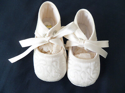 Cuquito  Christening Shoes Size Eu18 - Uk 2   Bnwot