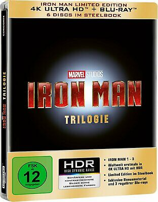 Iron Man Trilogy Limited Edition Steelbook [4K Ultra HD] [Blu-ray]
