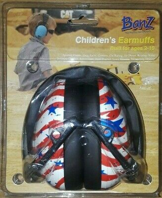 Banz Earmuffs For Children 2-10 Years old Kidz Flag