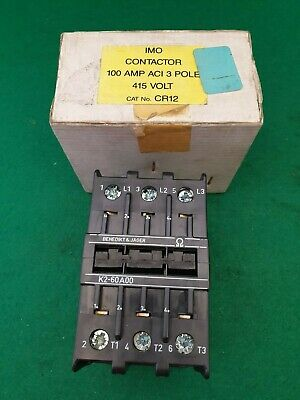 K2-60A00 Benedikt & Jager / IMO Contactor 415 VAC Coil 100 Amp