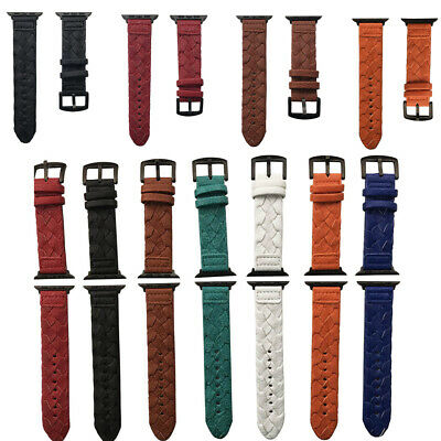 Leather Wrist Strap for Apple Watch Band 38/40/42/44mm for iWatch Series 4/3/2/1