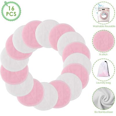 Bamboo Makeup Remover Pads, Reusable Soft Facial and Skin Care WashableToner of