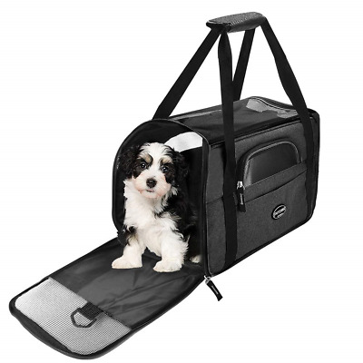 Wanfei Cat Travel Carrier Bag, Expandable Pet Carrier Bag Airline Approved, Soft