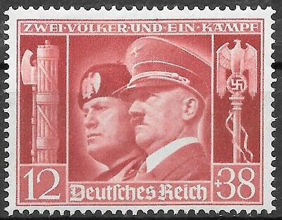 Germany 3rd Reich Mi# 763 MH Hitler & Mussolini 1941 *