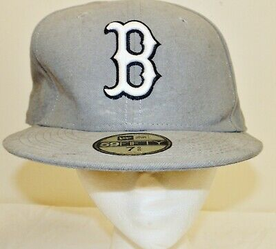 new arrivals 90a32 a7f1d New Era 59Fifty Boston Red Sox Fitted Cap Storm Grey Black White Men s MLB