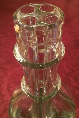 "Vintage MADE IN FRANCE Tall Glass Flower ""Four Compartment""Vase"