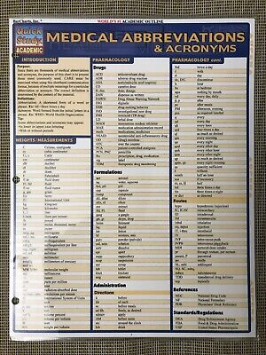MEDICAL ABBREVIATIONS & Acronyms Quick Reference Guide - Linton