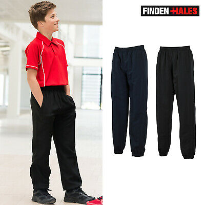 Finden & Hales Kids Lined Cuff Track Pant LV839 - Sports Training Active Trouser