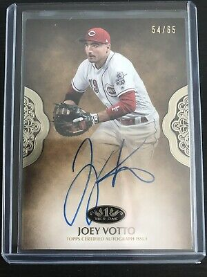 2019 Topps Tier One Autographs Joey Votto Auto #'d 54/65 Reds
