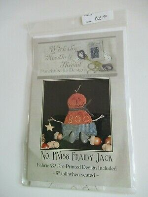 "With Thy Needle Thread Punchneedle Embroidery Pattern/Fabric  ""Fraidy Jack"" NIP"