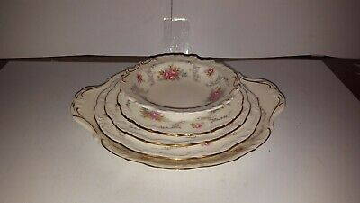 Royal Albert Tranquility Cake Plate Pickle Plate 3 Side Plates 5 Pieces