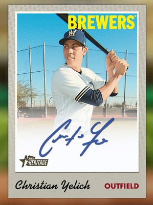 2019 HERITAGE SIGNATURE WAVE 2 DROP 1 BLUE CHRISTIAN YELICH Topps Bunt Digital