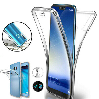 360° Full Body Clear Silicone Protect Case Cover For Huawei 10/20/30 Series 2019