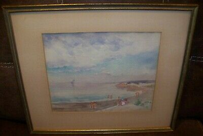 Virginia Helena Gruppe Wingaersheek Beach Gloucester MA Watercolor Painting