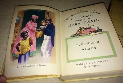 RARE Mark Twain Pudd'nhead Wilson UNCENSORED illustrated Slave Racism Book 1922