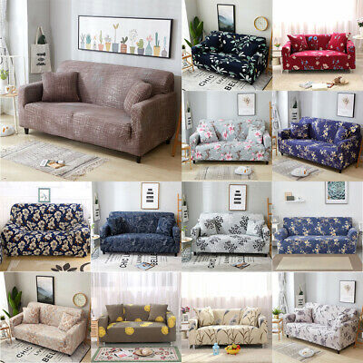1/2/3/4 Seater Spandex Stretch Sofa Cover Couch Lounge Protector or PIllow Case
