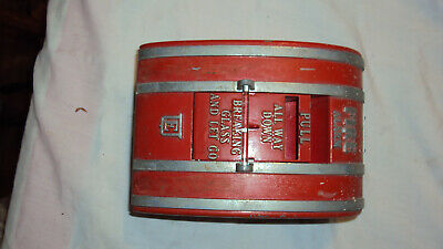 Vintage Edwards Fire Alarm Pull Station Intact glass