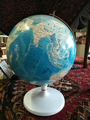 Vintage World Globe with Metal Base
