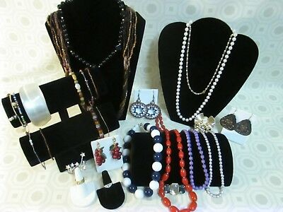 Junk Drawer Vtg Jewelry Mixed Items Lot Of 26 Costume
