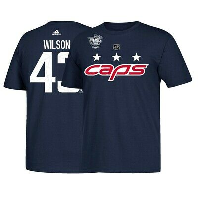 c56122cf9 Tom Wilson NHL Washington Capitals Adidas 2018 Stadium Series Navy T-Shirt