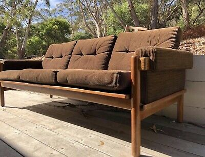 Mid Century 70's Danish Deluxe 3 seater sofa and 2 x armchair frames