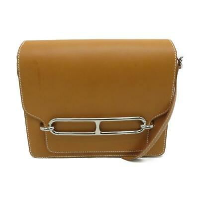 2a9a29b83a Hermes Roulis 23 Shoulder Bag Butler Leather Natural Sable 21 PHW 9615