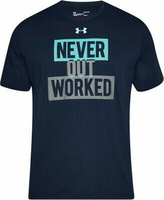 Men's Under Armour UA Never Out Worked T-Shirt 1310964 New Size XL