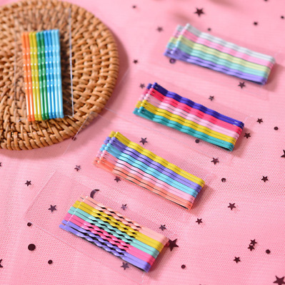 10PCS/Set Candy Color Hair Pins Bobby Pins Hair Clips for Women Girls