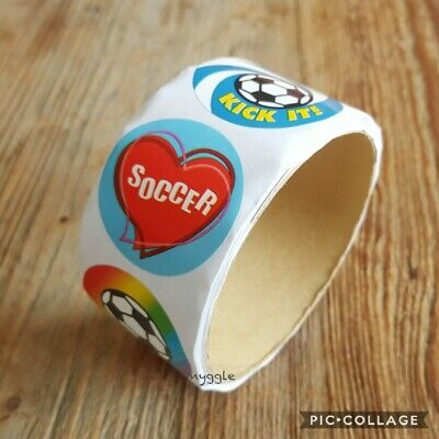 Soccer Merit Teacher Stickers Children's Kids Party Favours Student Rewards