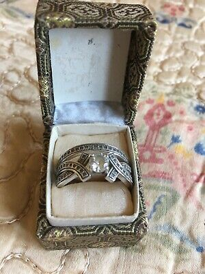 SUPERB ANTIQUE ART DECO 935 SILVER AND MARCASITE   RINGs