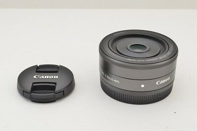 """MINT"" Canon EF-M 22mm F2 STM AF Lens for EOS M Series #180917j"