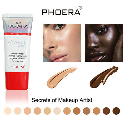 Matte Full Coverage Concealer Moisturizing Longlasting PHOERA Liquid Foundation