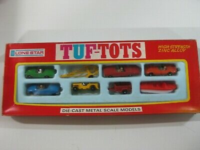 Vintage 70'S Lone Star Tuf-Tots Set Ref:580 Lancha Color Rojo Made In England