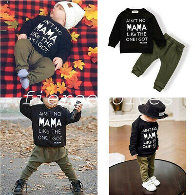 UK Newborn Baby Boys Tops Romper Jumpsuit Long Pants Cotton Outfits Clothes Set