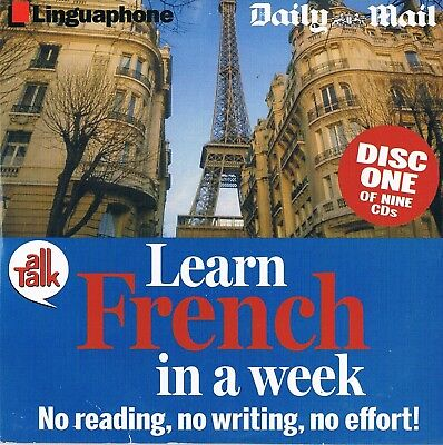 Learn French In A Week Discs 1 to 9 inc  -  Audio Book CD N/P